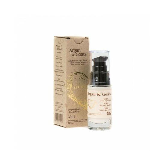 Secret Soap ARGAN & GOATS Argánolaj - kecsketej lifting szérum (arc, nyak, dekoltázs) (30 ml)