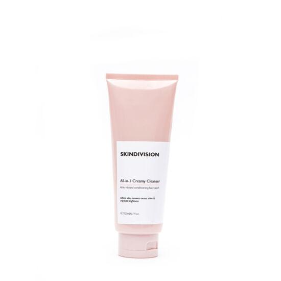SkinDivision All-in-1 Krémes arctisztító (200 ml)