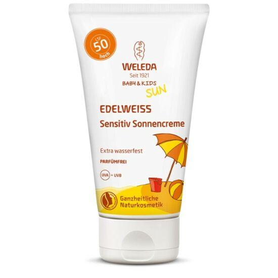 Weleda Edelweiss fényvédő testápoló érzékeny bőrre SPF50 (150 ml)