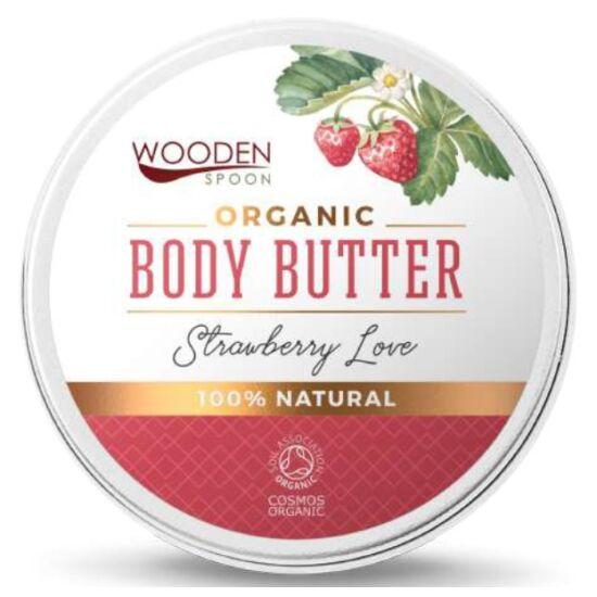 Wooden Spoon Bio testápoló vaj - Epres szerelem próba (15 ml)