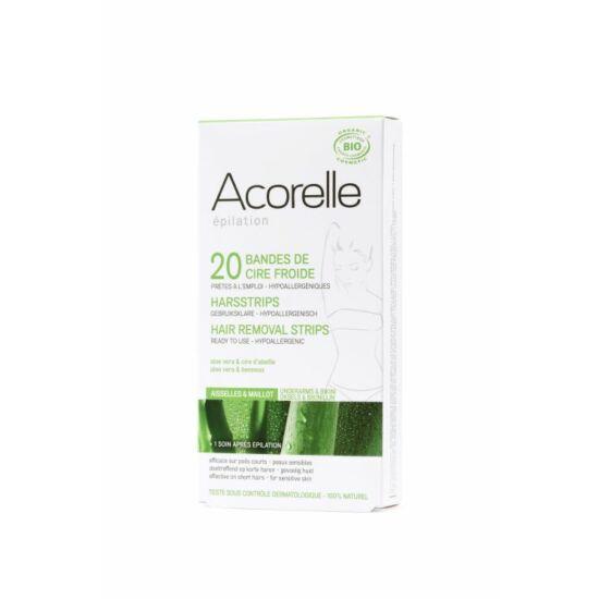 Acorelle hideggyanta szőrtelenítő csík bikinivonalra bio méhviasszal és Aloe verával
