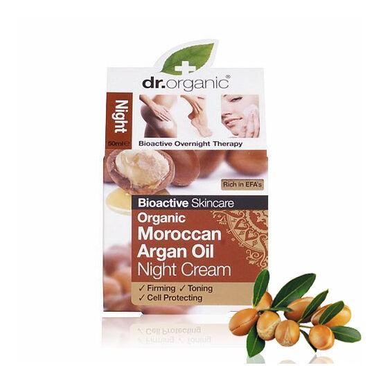 Dr. Organic Bio marokkói argánolaj éjszakai arcápoló