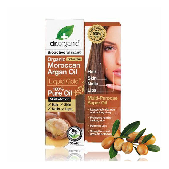 Dr. Organic Bio marokkói argánolaj folyékony arany 100%