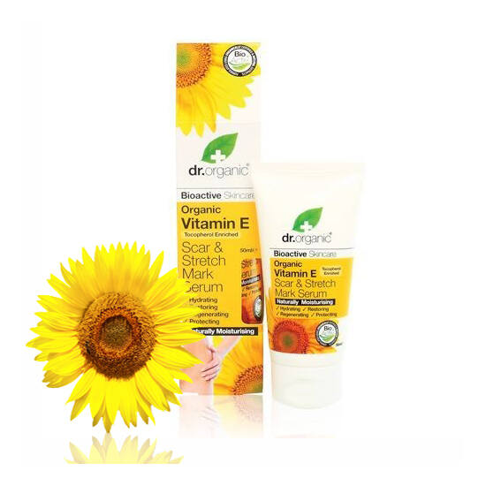 Dr. Organic Bio természetes E- vitamin hegek és terhességi csíkok elleni szérum