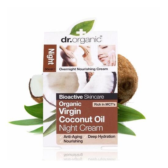 Dr. Organic Bio szűz kókuszolaj éjszakai arcápoló