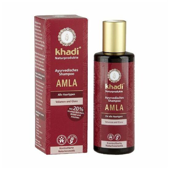 Khadi sampon Amla - tartás nélküli és fénytelen hajra