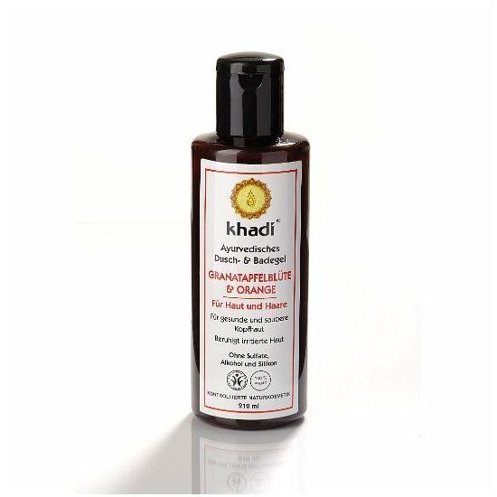 Khadi fürdő- és tusológél gránátalmavirág és narancs (bőrre és hajra)