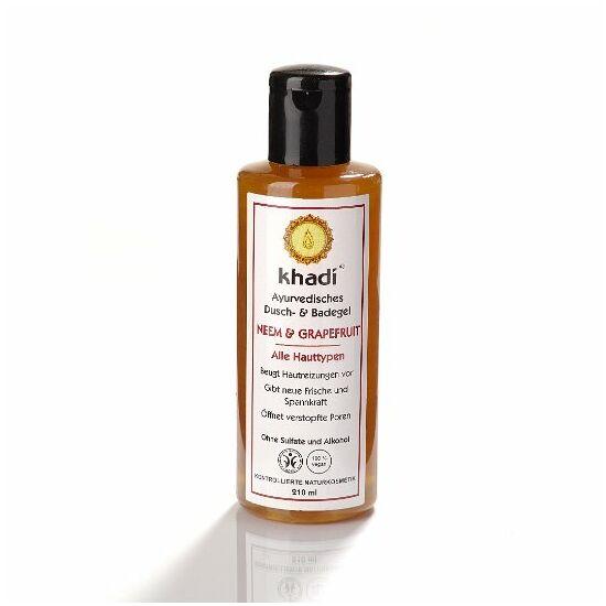 Khadi fürdő- és tusológél neem fa és grapefruit (zsíros, problémás bőrre)