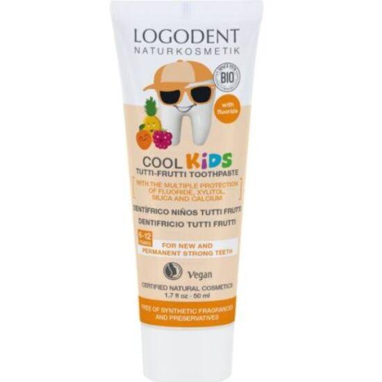 Logona Logodent Cool Kids tutti-frutti ízű gyermekfogkrém (50 ml)